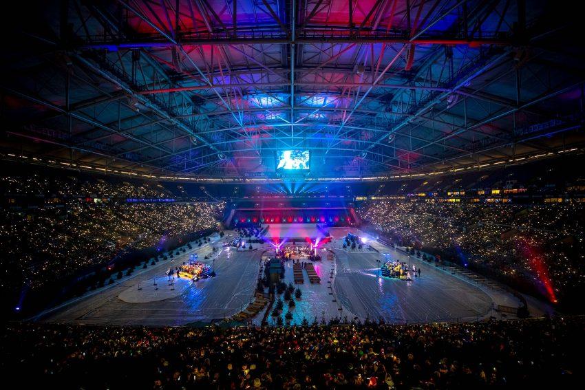 Weihnachtssingen auf Schalke am 14. Dezember 2019