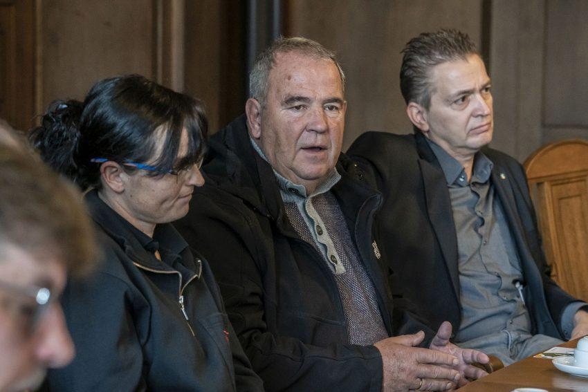 Pressekonferenz zu der Kampagne: Herne mit Respekt: Eva Werner, Klaus Mahne und Kai Gera.