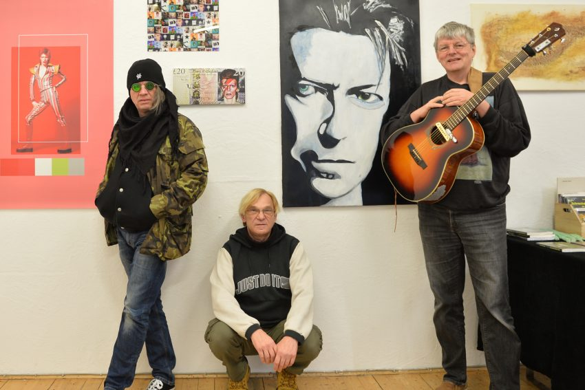Das Künstlerkollektiv 'Sound and Art': v.l. Edward P., Volker Lückfeldt und Michael Völkel.