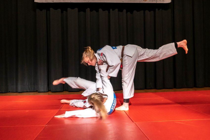 Jugendsportlerehrung 2019: Spektakuläre Einlagen bei der Judo-Vorführung.