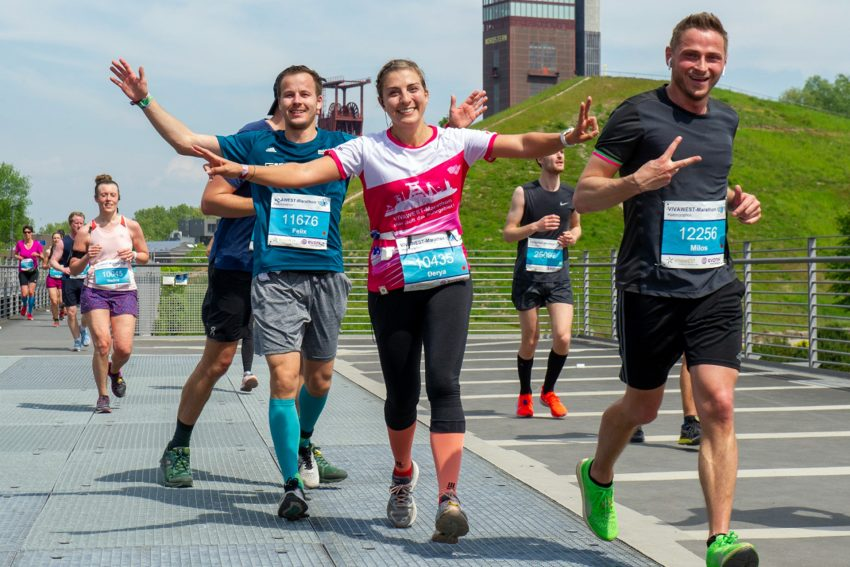 Beim VIVAWEST-Marathon.