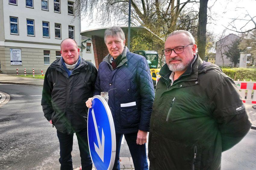 v.l. Thomas Schmidtmann, Josef Becker, Hubert Jäger.