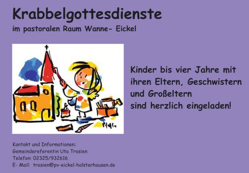 Krabbelgottesdienste im Pastoralen Raum Wanne-Eickel.