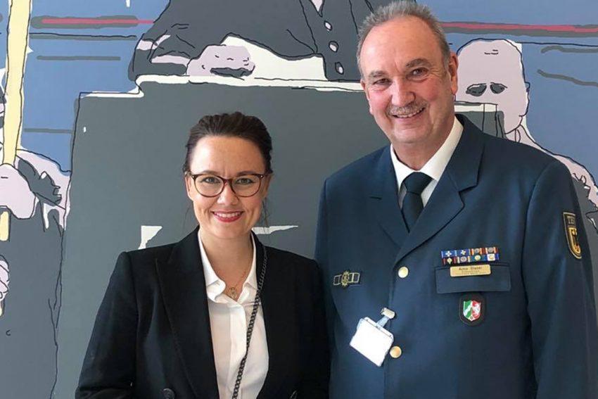 Michelle Münterfering (SPD) und Aimo Glaser (THW).