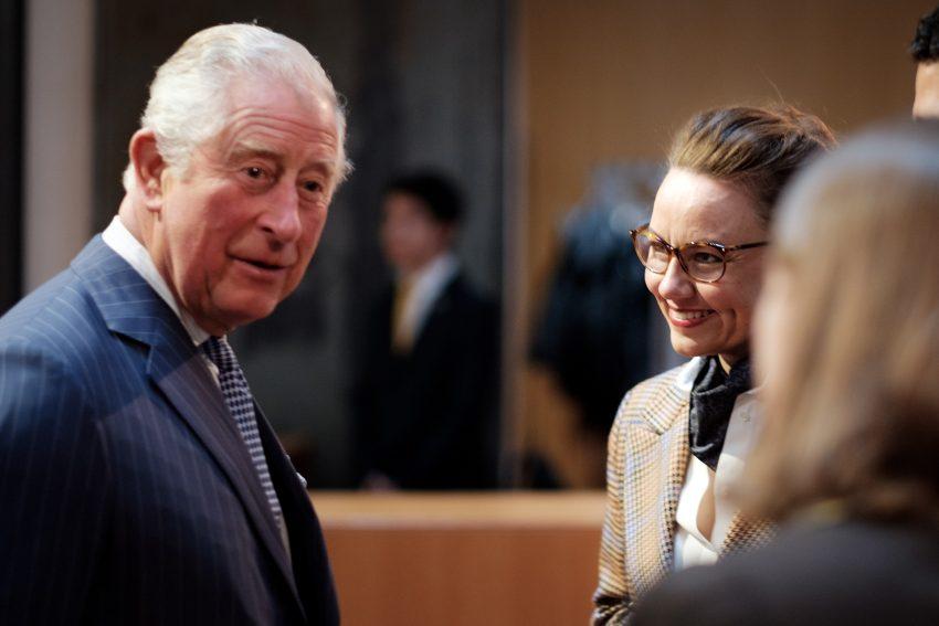 v.l. Prince Charles, Michelle Müntefering.