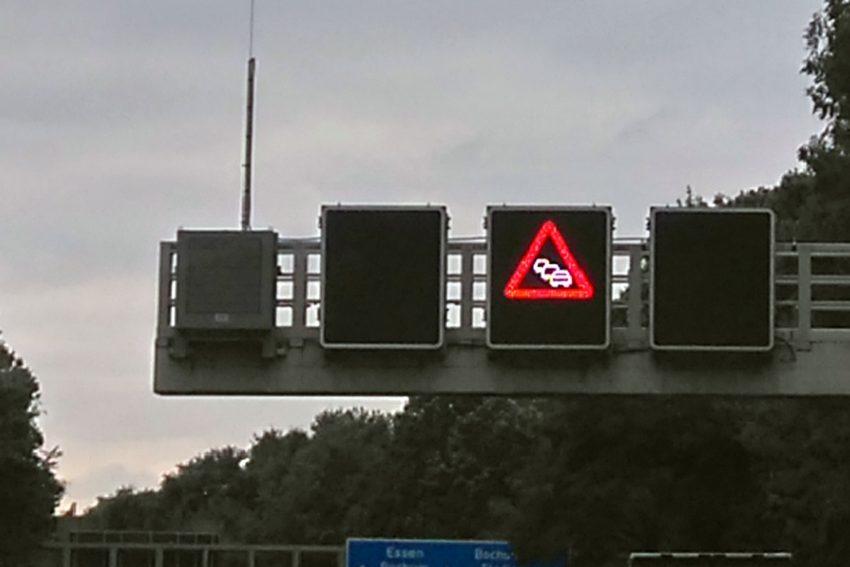 Die A40 wird gesperrt.