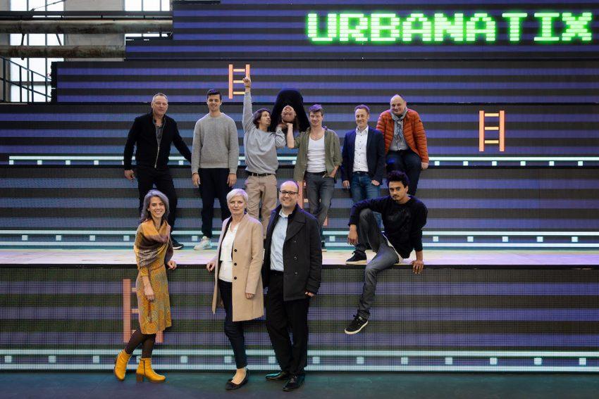Das Team von Urbanatix-X bei der Pressekonferenz.