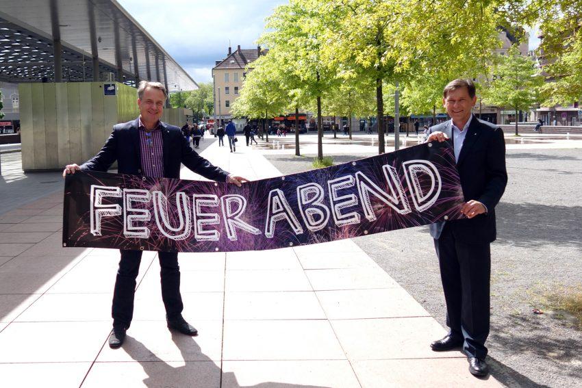 v.l. Holger Wennrich, Frank Dudda.