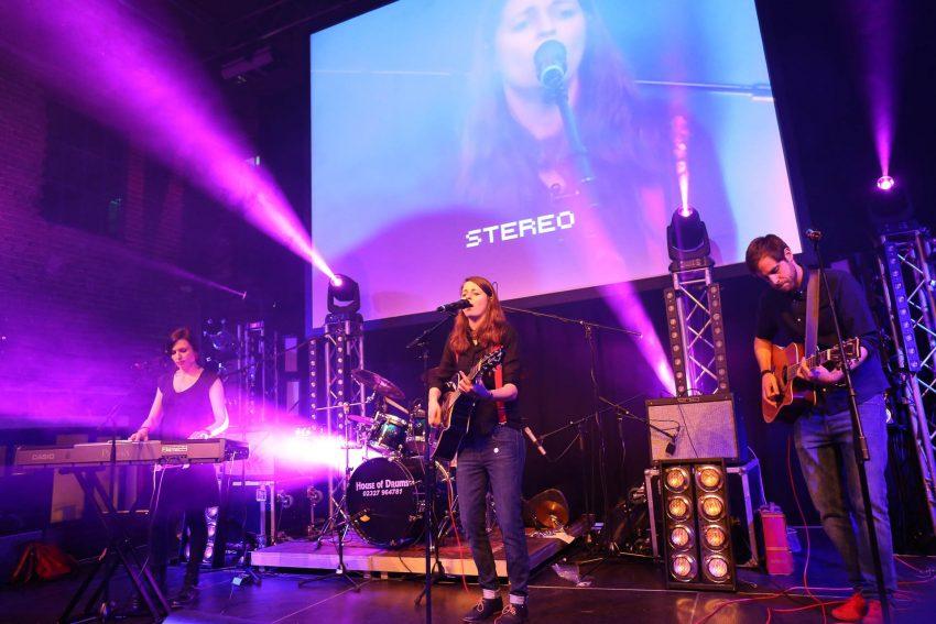 Bandfusion in den Flottmannhallen am Samstag (30.1.2016).