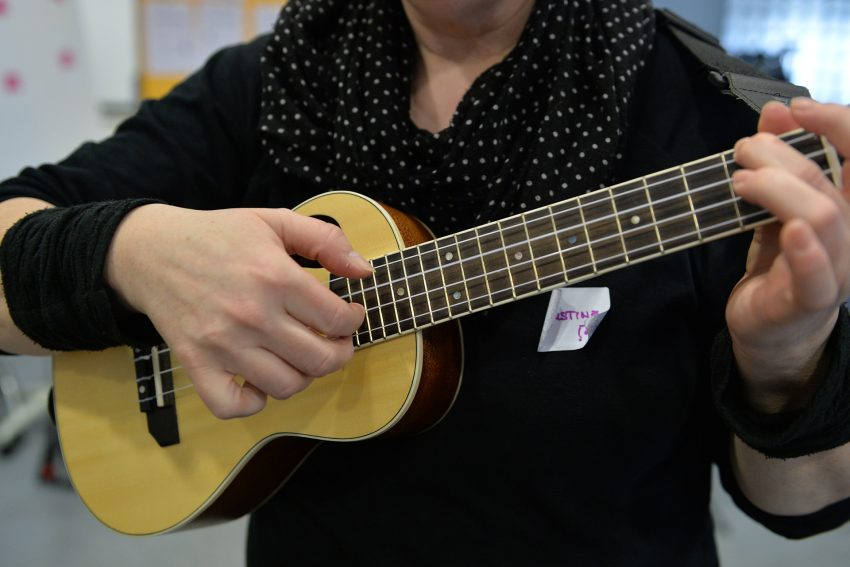 Ukulele-Workshop mit Christine Budkammer.