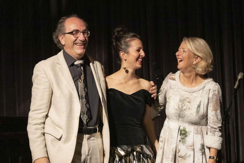Marie und Jean-Claude Seferian sowie Christiane Rieger-Seferian im Literaturhaus.