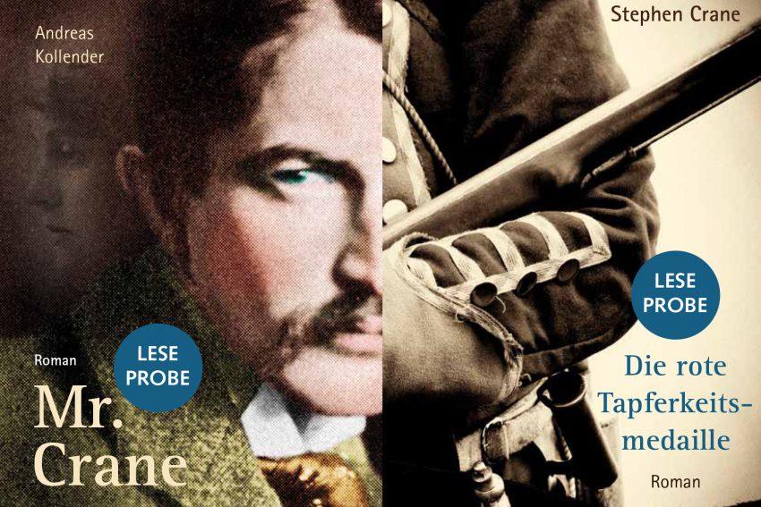 Zwei Romane von und über Stephen Crane.