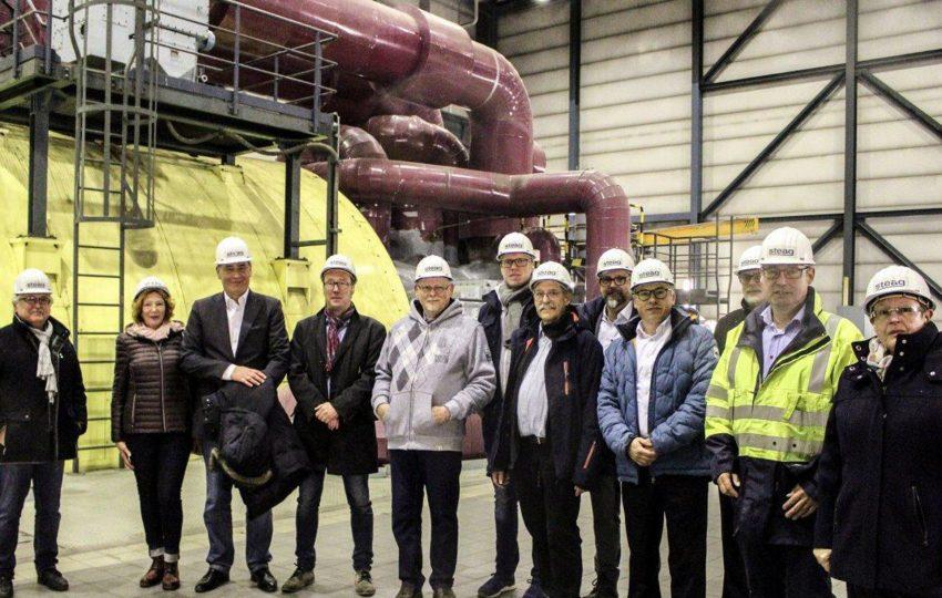 Vertreter der SPD Fraktion besuchten das Steag-Kraftwerk an der Hertener Straße.