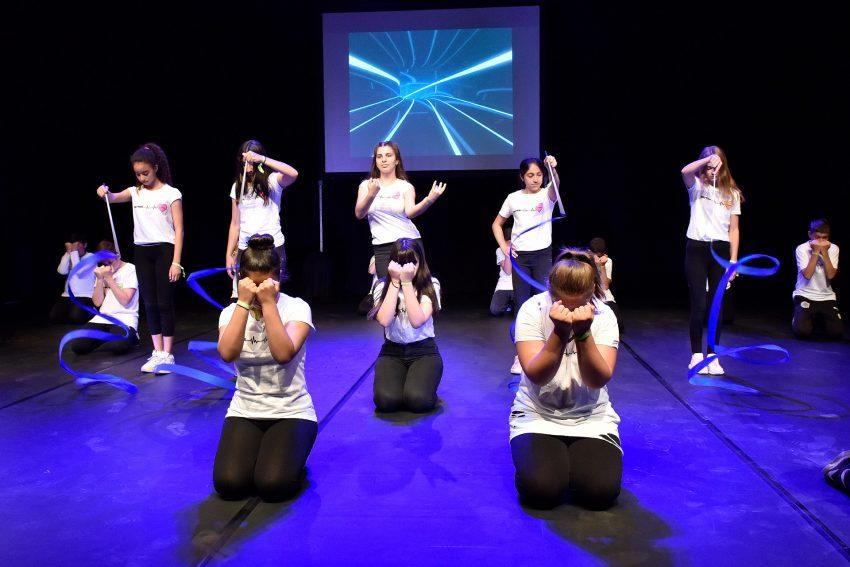Tänzer der Realschule Crange.