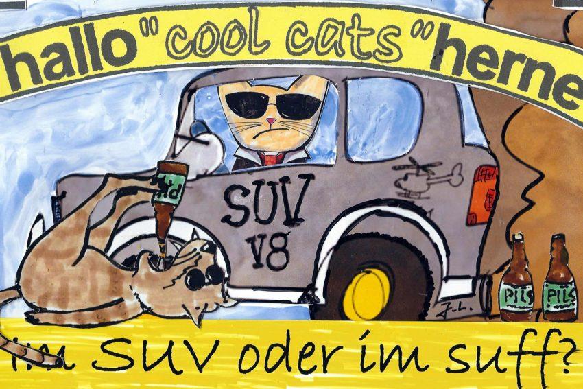 Die Cool Cat im SUV - oder doch im Suff?