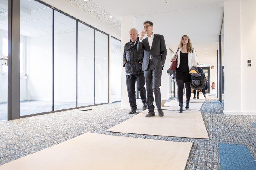 Umzug in neue Räume: die Gemeindeprüfungsanstalt NRW zieht von der Innenstadt in den Shamrockpark in Herne (NW). Aufnahme vom Mittwoch (12.02.2020).